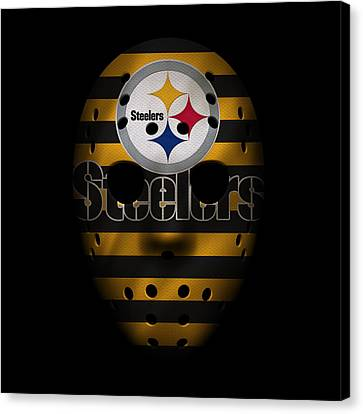 Steelers War Mask 2 Canvas Print by Joe Hamilton