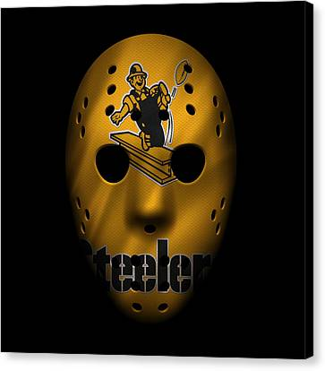 Steelers War Mask 3 Canvas Print by Joe Hamilton