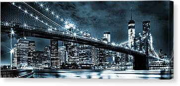 Steely Skyline Canvas Print by Az Jackson
