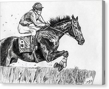 Steeplechase Canvas Print by Jana Goode