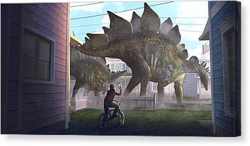 Stegosaurus Canvas Print by Guillem H Pongiluppi