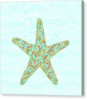 Stella Starfish Coastal Sea Life Beach Theme Canvas Print by Tina Lavoie