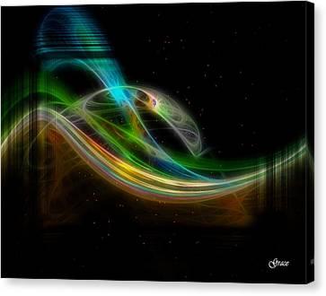 Stellar Bridge Canvas Print by Julie Grace