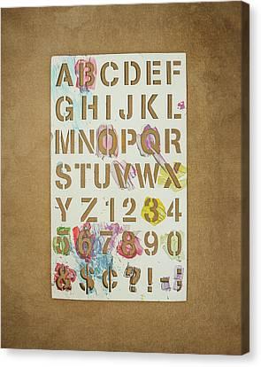 Stencil Alphabet Fun Canvas Print by Scott Norris