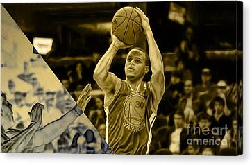 Steph Curry Collection Canvas Print by Marvin Blaine