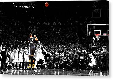 Steph Curry Its Good Canvas Print by Brian Reaves
