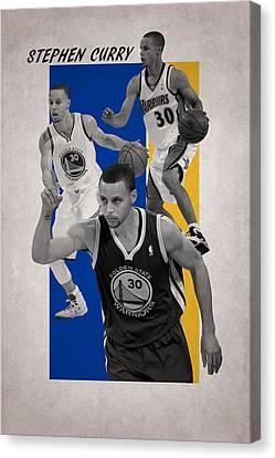 Stephen Curry Golden State Warriors Canvas Print by Joe Hamilton