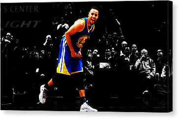 Stephen Curry Having Fun Canvas Print by Brian Reaves