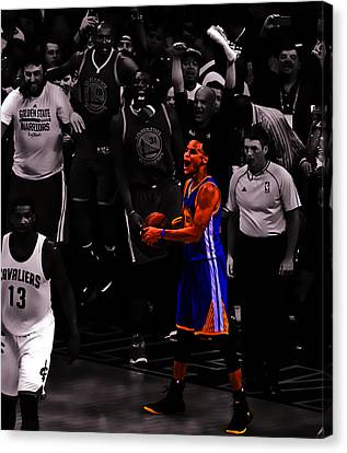 Stephen Curry Sweet Victory Canvas Print by Brian Reaves