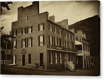Stephensons Hotel - Harpers Ferry  West Virginia Canvas Print by Bill Cannon