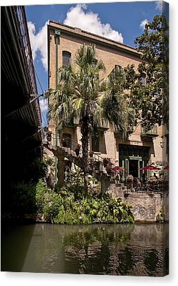 Steps To The Riverwalk Canvas Print by Steven Sparks