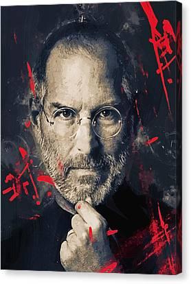 Steve Jobs Canvas Print by Afterdarkness
