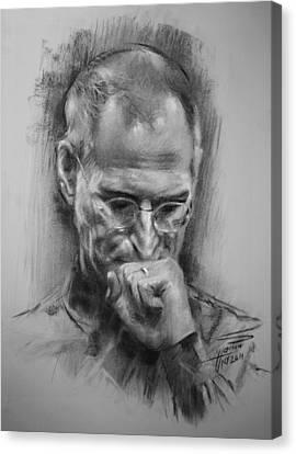 Steve Jobs Canvas Print by Ylli Haruni