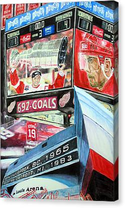 Steve Yzerman- Detroit Red Wings Canvas Print by Chris Ripley