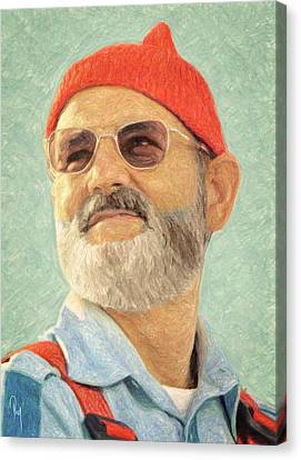 Steve Zissou Canvas Print by Taylan Soyturk