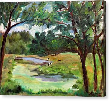 Stevenson Rd. Pond Canvas Print by Ethel Vrana