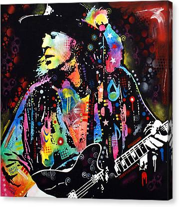 Stevie Ray Vaughan Canvas Print by Dean Russo