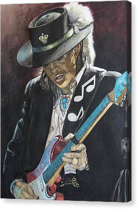 Stevie Ray Vaughan  Canvas Print by Lance Gebhardt