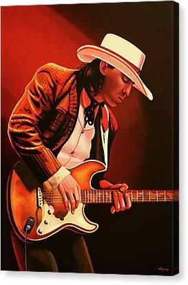Stevie Ray Vaughan Painting Canvas Print by Paul Meijering