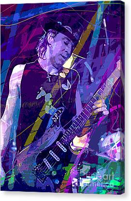 Stevie Ray Vaughan Sustain Canvas Print by David Lloyd Glover