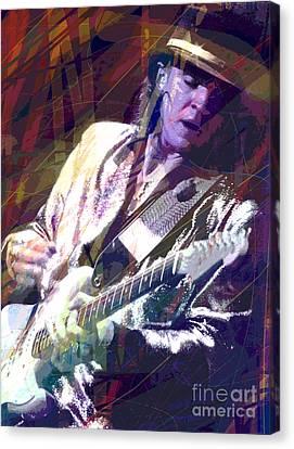 Stevie Ray Vaughan Texas Blues Canvas Print by David Lloyd Glover