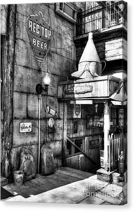 Still At Story Bw  Canvas Print by Mel Steinhauer