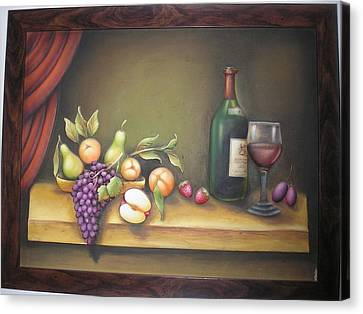 Still Life In 3-d Relief Work Canvas Print by Prity Jain