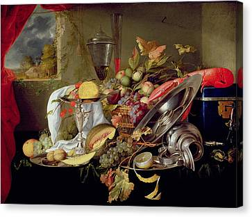 Still Life Canvas Print by Jan Davidsz Heem