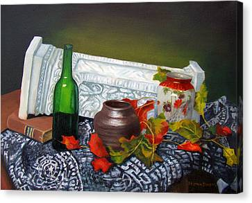 Still Life On A Classical Theme Canvas Print by Stephen  Hanson