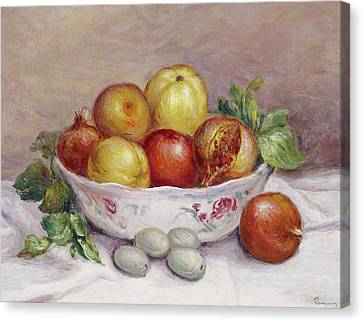 Still Life With A Pomegranate Canvas Print by Pierre Auguste Renoir