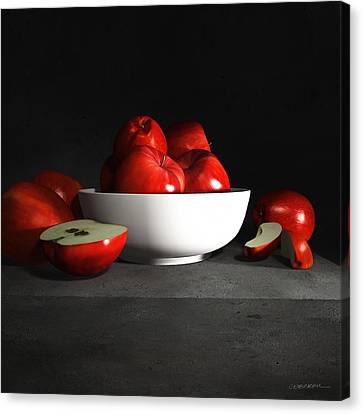 Still Life With Apples Canvas Print by Cynthia Decker