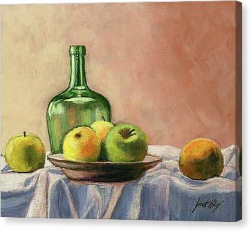 Still Life With Bottle Canvas Print by Janet King