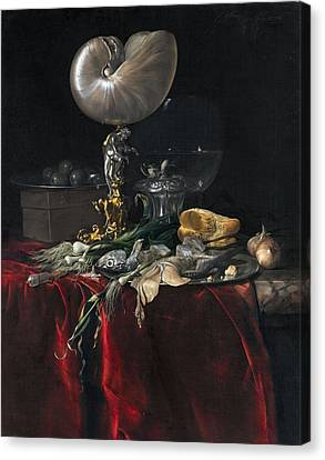 Still Life With Fish Canvas Print by Willem