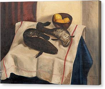 Still Life With Fishes Canvas Print by Hugo Simberg