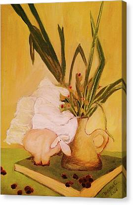 Still Life With Funny Sheep Canvas Print by Manuela Constantin