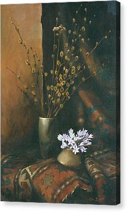 Still-life With Snow Drops Canvas Print by Tigran Ghulyan