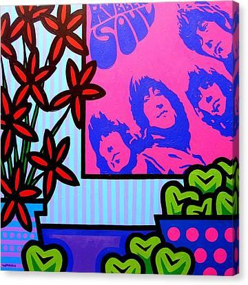 Still Life With The Beatles Canvas Print by John  Nolan