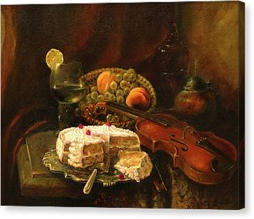 Still-life With The Violin Canvas Print by Tigran Ghulyan