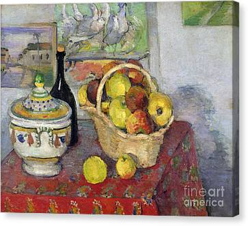 Still Life With Tureen Canvas Print by Paul Cezanne