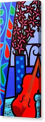 Still Life With Violin Canvas Print by John  Nolan