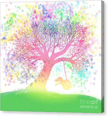 Still More Rainbow Tree Dreams 2 Canvas Print by Nick Gustafson