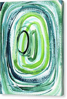 Still Orbit 9- Abstract Art By Linda Woods Canvas Print by Linda Woods