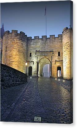 Stirling Castle Scotland In A Misty Night Canvas Print by Christine Till