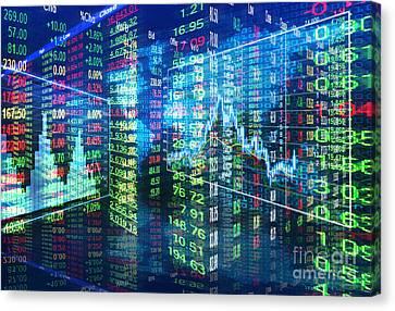 Stock Market Concept Canvas Print by Setsiri Silapasuwanchai