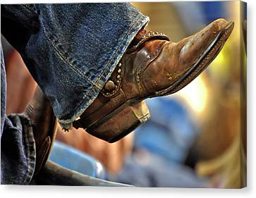 Stock Show Boots I Canvas Print by Joan Carroll