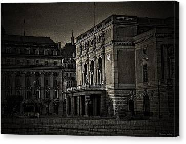 The Royal Swedish Opera Canvas Print by Ramon Martinez