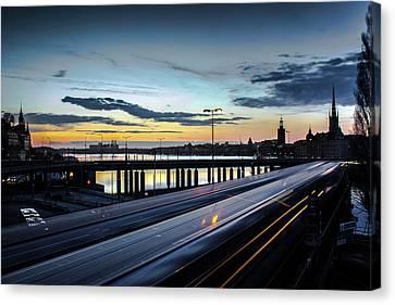 Stockholm Night - Slussen Canvas Print by Nicklas Gustafsson