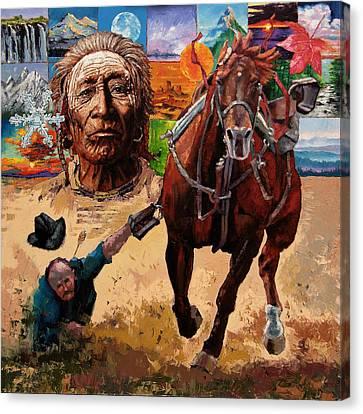 Stolen Land Canvas Print by John Lautermilch