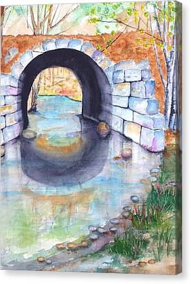 Stone Arch Bridge Dunstable Canvas Print by Carlin Blahnik