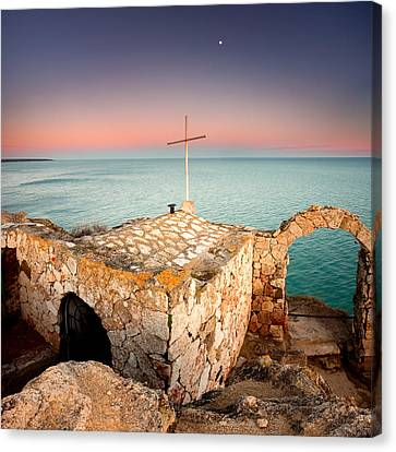 Stone Chapel Canvas Print by Evgeni Dinev